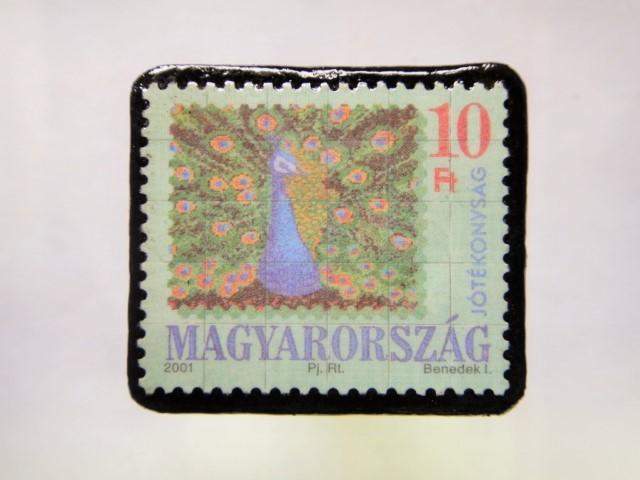 ハンガリー クリスマス切手ブローチ203