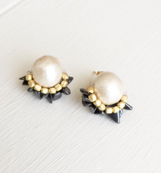 cottonpearl × rutile bijou pierce