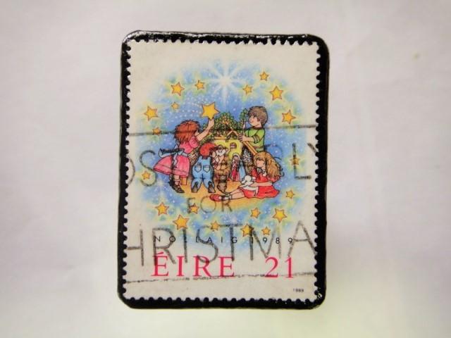 アイルランド クリスマス切手ブローチ210