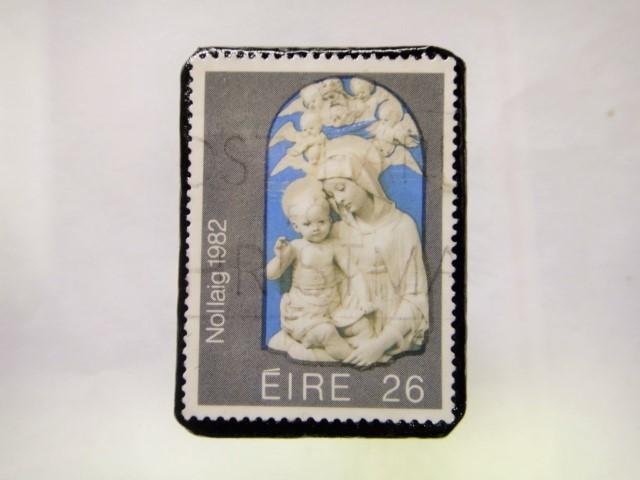 アイルランド クリスマス切手ブローチ212