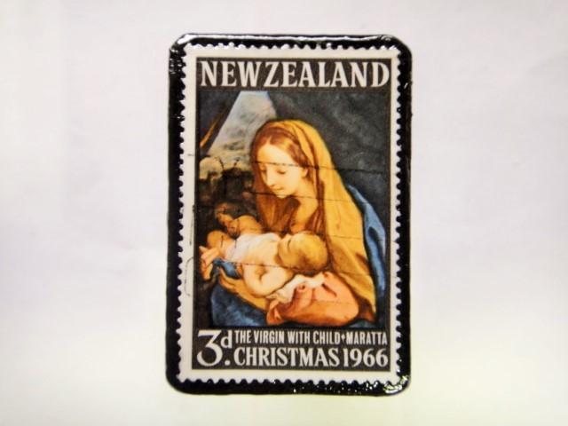 ニュージーランド クリスマス切手ブローチ216