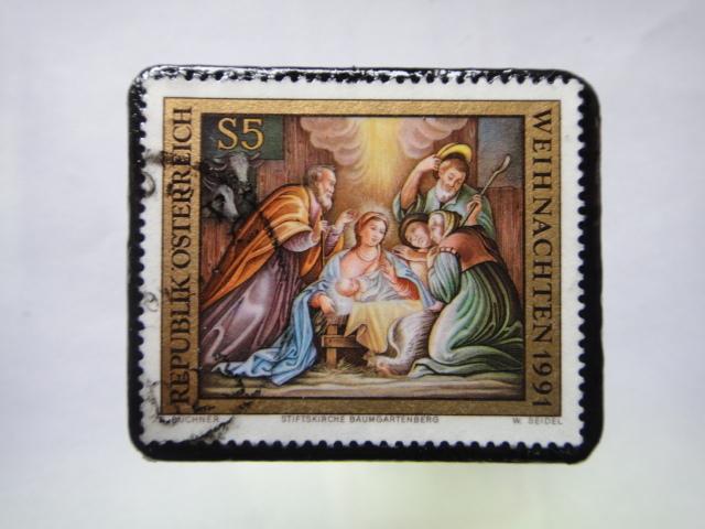 オーストリア クリスマス切手ブローチ221