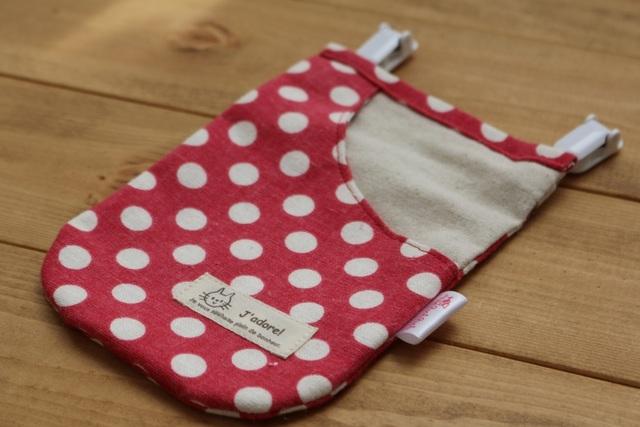 ポケットの形の移動ポケット(YUWA赤ドット・左側)