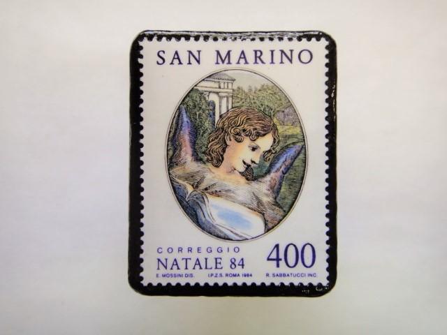 サンマリノ 天使切手ブローチ249