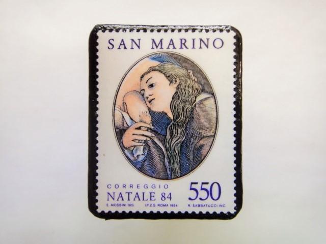 サンマリノ クリスマス切手ブローチ251