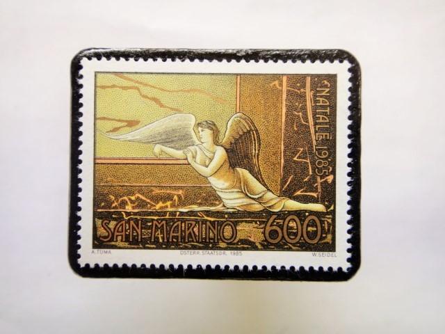 サンマリノ クリスマス切手ブローチ257