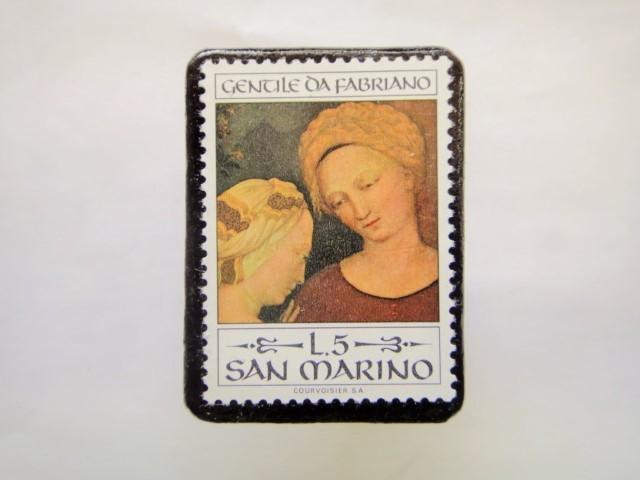 サンマリノ クリスマス切手ブローチ258