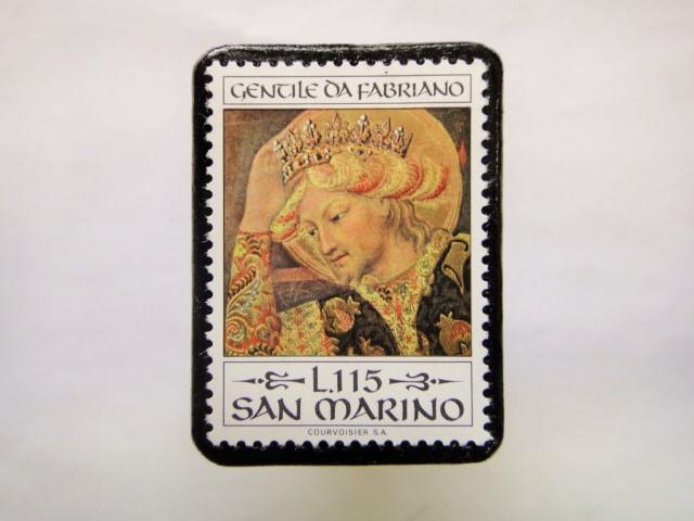 サンマリノ クリスマス切手ブローチ261