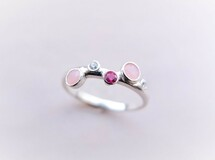 P'an opal silver ring(ピンクオパール)