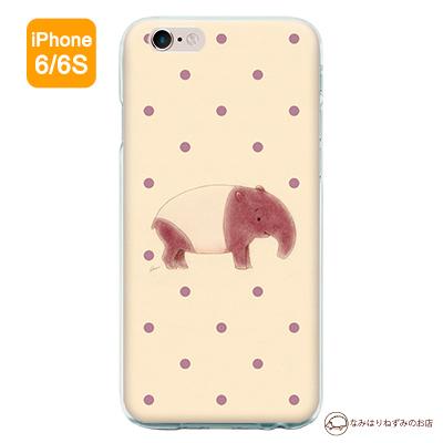 iPhone6/6Sケース 「バク水玉」(ポストカード付)