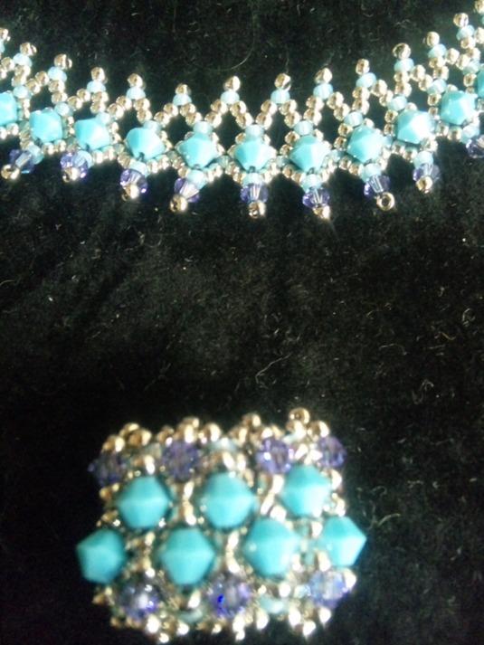 ターコイズ ネックレス&指輪セット