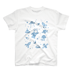[ space trip ! #w-blue ] Tシャツ-17サイズあり!