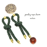 dark green(2pcs)import parts jewelry rope charm