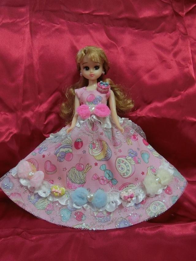 リカちゃん メルヘンスイーツドレス(ピンク)