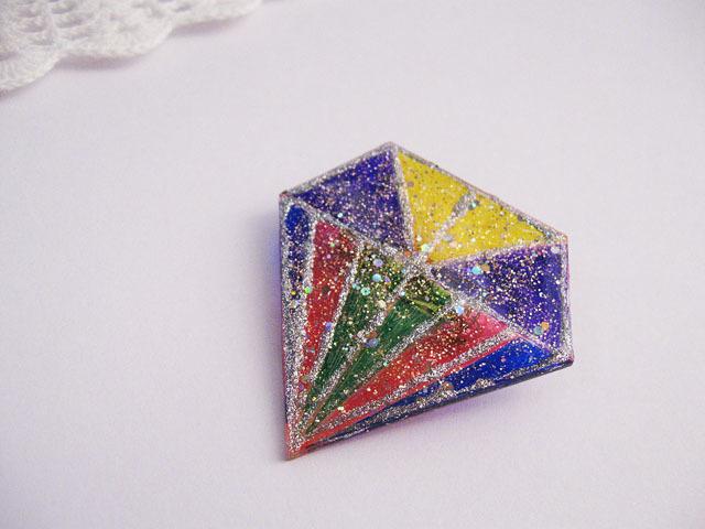ダイヤモンドデザインブローチ:B