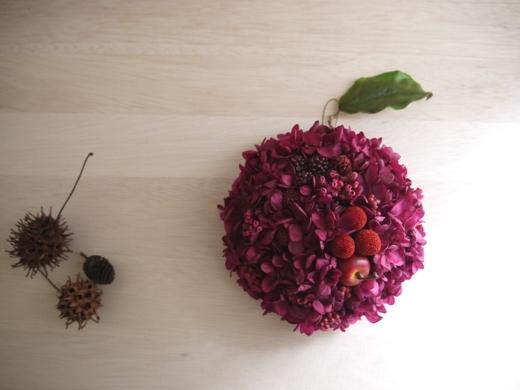 再販♪フレンチピンク,リンゴの壁飾り