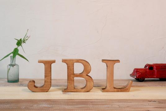木製 アルファベットオブジェ(アンティークウッド)大文字1文字