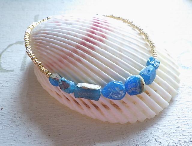 ☆再販☆ 地中海ブレス Roman Glass Seaside