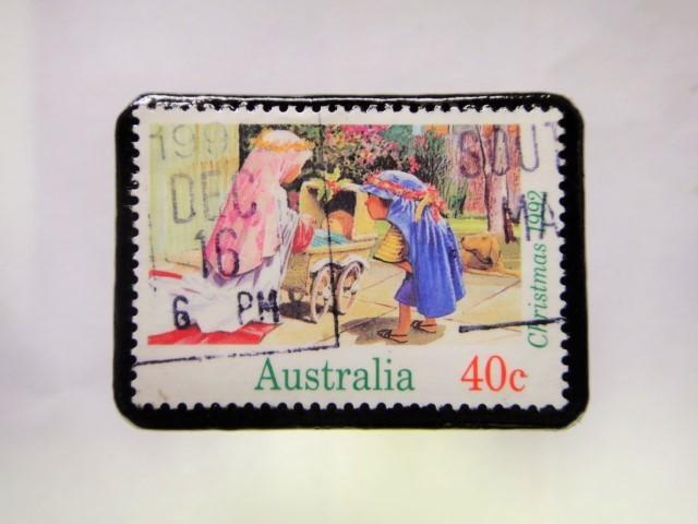 オーストラリア クリスマス切手ブローチ271