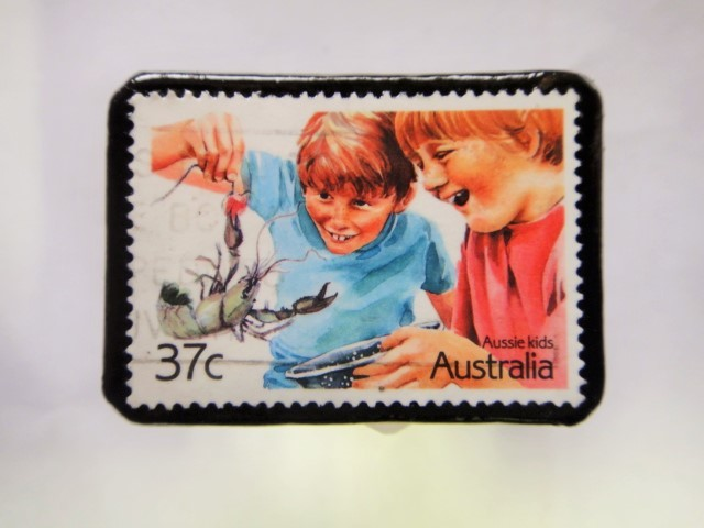 オーストラリア クリスマス切手ブローチ273