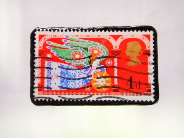 イギリス クリスマス切手ブローチ275