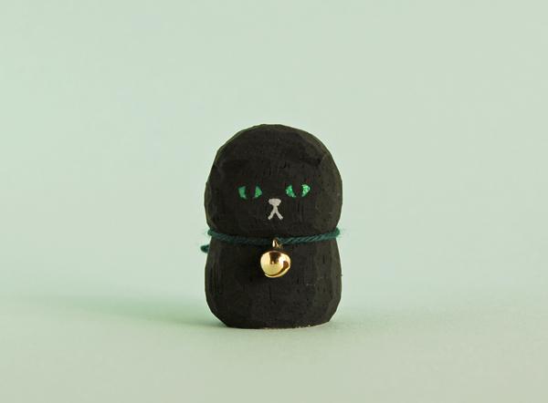 木彫り人形 スコティッシュ 黒 [MWF-126]