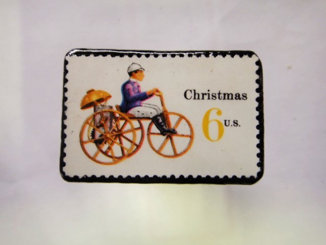アメリカ クリスマス切手ブローチ281