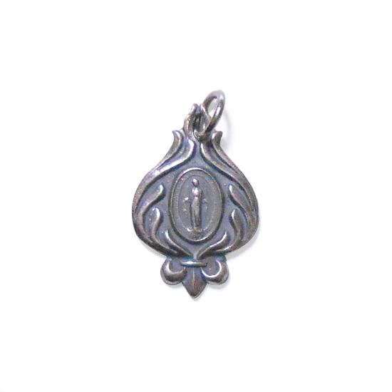 ゴシック紋章ソード調飾り枠聖母マリア様ペンダントトップ