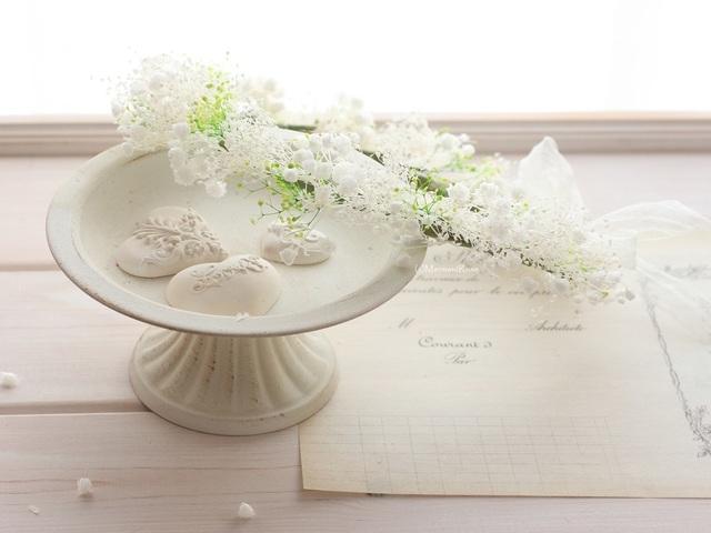 花冠カスミソウ(Wホワイト&グリーン)*リボン