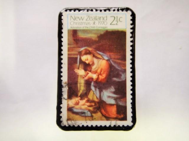 ニュージーランド クリスマス切手ブローチ282