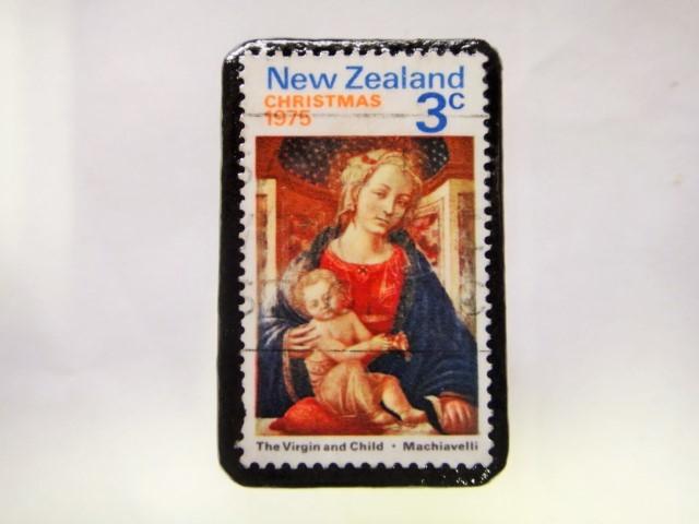 ニュージーランド クリスマス切手ブローチ283