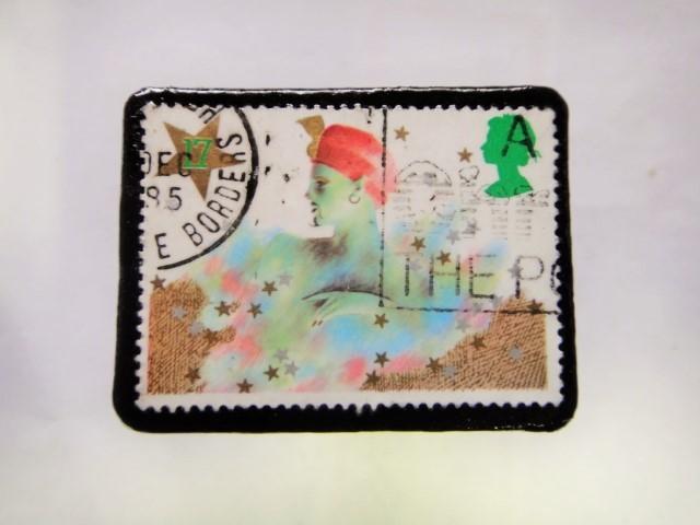 イギリス クリスマス切手ブローチ295