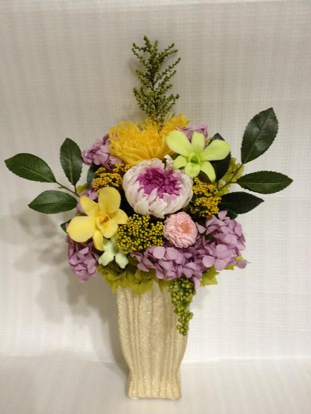 フューネラルフラワー(仏花・供花)?パープルミルフィーユ