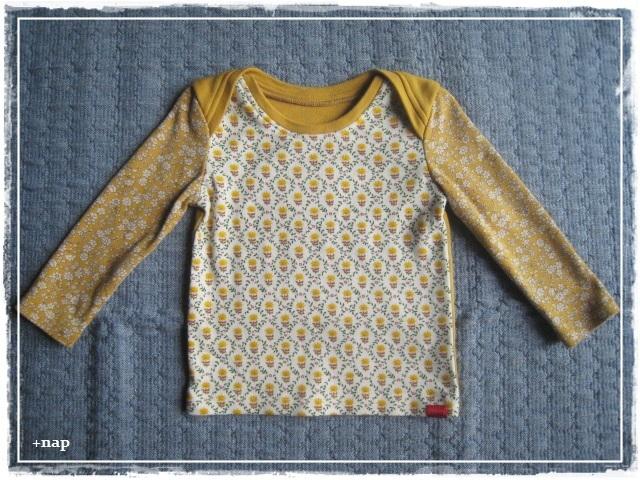 クロスショルダー長そでTシャツ(クロシェット)・80