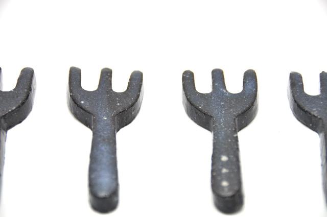 フォークの箸置き(宇宙ブラック)