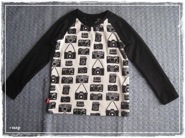 ラグラン長そでTシャツ(カメラ×スター)