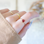 glass ring/red