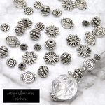 40個入)antique silver beads set