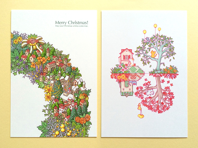クリスマス【絵葉書二枚組】