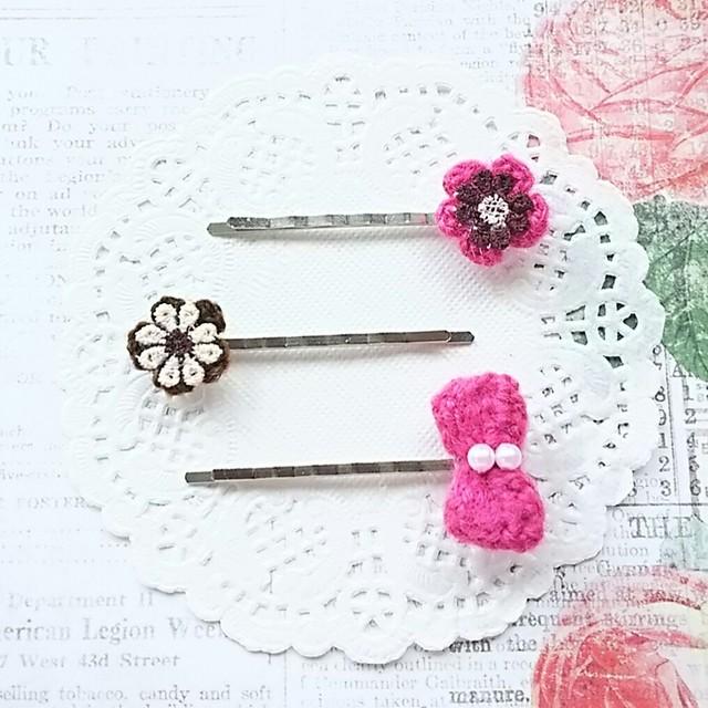 お花ヘアピンセット