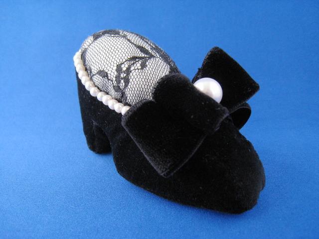 ピンクッション 靴型(黒)