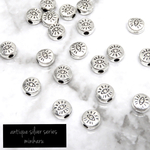 20個入)antique silver petit eye beads