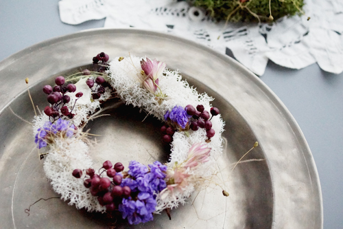 夜長のリース Hiver du bail:Blanc/violet
