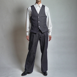 【Denim Co-ords】岡山県産デニムセットアップ(Vest & Wide Pants)