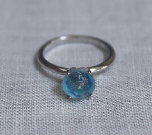 SORRY--SOLD OUT--購買部 7月星祭:シリウス金剛石の指輪/水碧色