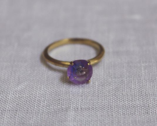 SORRY--SOLD OUT--購買部 7月星祭:シリウス金剛石の指輪/碧紫色