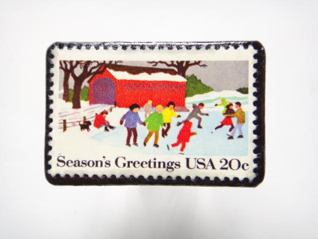 アメリカ 1982年切手ブローチ 310