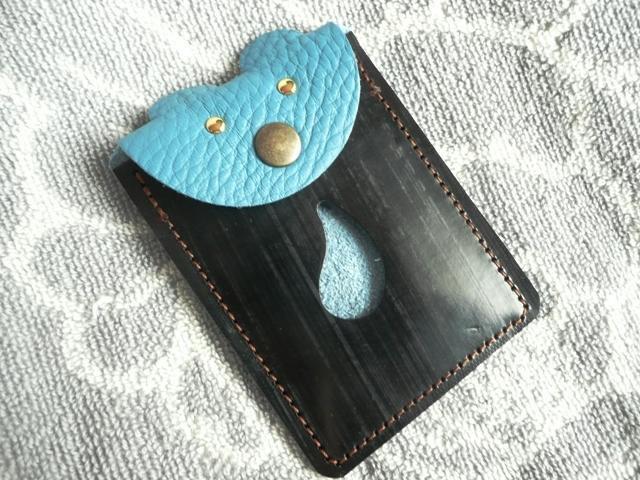 【耳付きnew!】トリヨンとブライドルレザーのカードケース