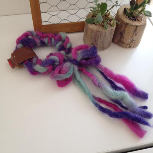 紡ぎ糸のシュシュ