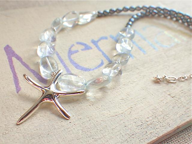 Big Starfish Ocean Necklace /SV925 ブルートパーズ